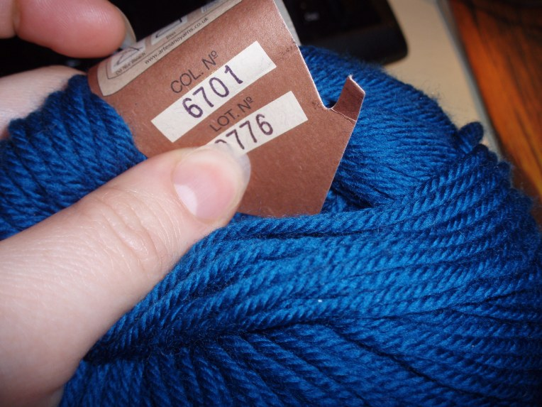Typical yarn label colour information