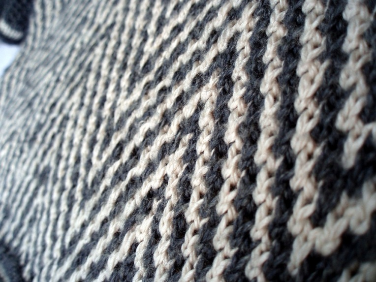 Zebra Chevron Slip Stitch Colourwork