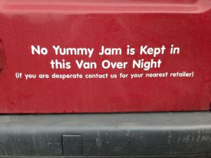 No Yummy Jam is Kept in this Van Over Night