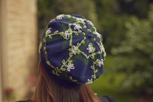 Petals And Plaid Hat