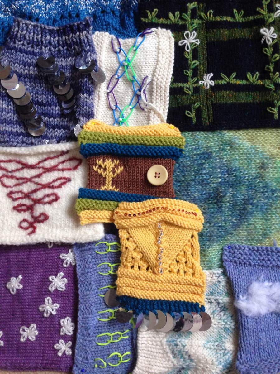 Knitting Embellishments Workshop at Unravel 2015   Catching Loops