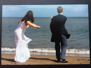My lover and I skipping stones on Killiney Bay once upon a time.